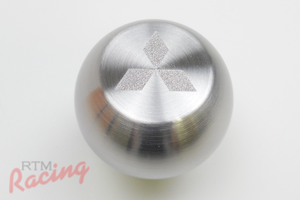 Solid Stainless Mitsu Logo Shift Knob