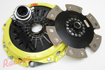 ACT Heavy-Duty Monoloc Clutch Kit with Solid Hub 6-Puck Disc: EVO 10