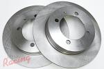 """Whitebox"" Plain Rear Brake Rotors: EVO 1-3"