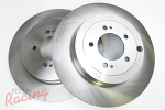 """Whitebox"" Plain Rear Brake Rotors: EVO 10"