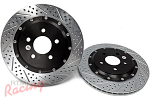 "Baer 2-Piece, Slotted & Drilled 13"" Cobra Rotors for Front Big Brakes: DSM"