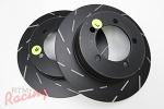 EBC Slotted Rear Brake Rotors: 1g DSM