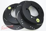 EBC Slotted & Dimpled Rear Brake Rotors: 2g DSM