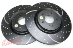EBC Slotted & Dimpled Front Brake Rotors: EVO 10