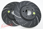 EBC Slotted & Dimpled Front Brake Rotors: EVO 5-9