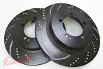 EBC Slotted & Dimpled Rear Brake Rotors: EVO 5-9