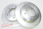 StopTech Slotted Rear Brake Rotors: 1g DSM