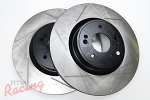 StopTech Slotted 340mm Genesis Rotors for Front Big Brakes: 2g DSM