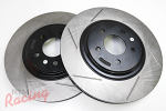 "StopTech Slotted Cryo-Treated 13"" Cobra Rotors for Front Big Brakes: EVO 1-3"