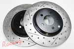 StopTech Slotted & Drilled 320mm Genesis Rotors for Front Big Brakes: 2g DSM