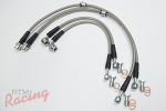 Techna-Fit Stainless Braided Brake Lines: EVO 5-9