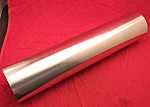 "Vibrant 4"" Polished Aluminum Piping"