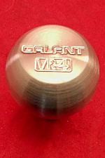 Solid Stainless Galant VR4 Logo Shift Knob