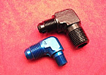 -AN Male to NPT Male 90-Degree (Non-Swivel) (Aluminum)